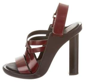 Calvin Klein Collection Leather Multistrap Sandals