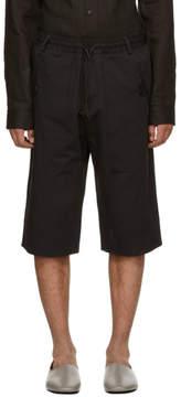Isabel Benenato Black Elastic Waist Shorts