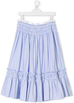 Simonetta TEEN ruffled striped skirt