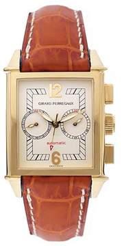 Girard Perregaux Vintage 1945 18kt Yellow Gold Tan Leather Men's Watch
