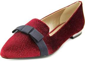 Alfani Zurry Women Pointed Toe Canvas Burgundy Flats.