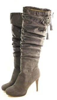 Thalia Sodi Womens Brisa Fabric Almond Toe Knee High Fashion Boots.