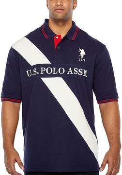 U.S. Polo Assn. USPA Embroidered Short Sleeve Stripe Polo Shirt Big and Tall