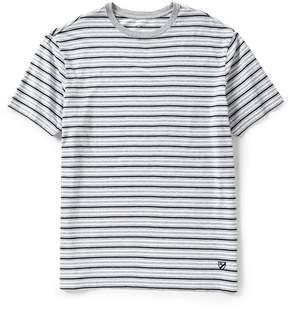 Daniel Cremieux Stripe Jersey Short-Sleeve Contrast Logo Tee