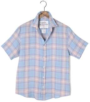 Frank And Eileen Mens Colin Short Sleeve Plaid Linen Shirt