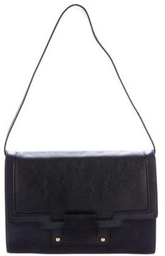 Smythson Leather Flap Shoulder Bag