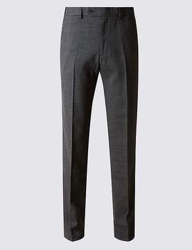 Marks and Spencer Big & Tall Tailored Fit Wool Blend Trousers