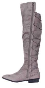Material Girl Womens Calyn Fabric Closed Toe Over Knee Fashion Boots.