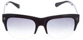Balmain Gradient Rectangular Sunglasses