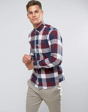 Tom Tailor Slim Fit Shirt In Red Check