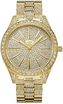 JBW Women's Cristal 0.12 ctw Diamond 18k gold-plated stainless-steel Watch