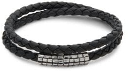 Effy Sterling Silver and Leather Bracelet