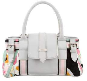 Emilio Pucci Leather-Trimmed Printed Bag