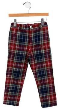 Oscar de la Renta Girls' Wool Plaid Pants