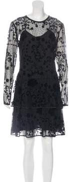 Cynthia Rowley Floral Mesh Dress