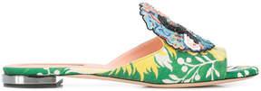 Rochas embellished R sandals