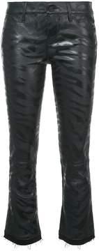 RtA Cropped Kiki Zebra Jeans