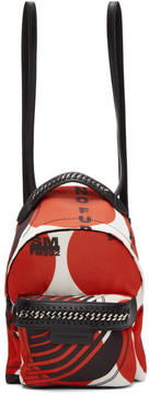 Stella McCartney Red Thanks Girls Mini Falabella GO Backpack