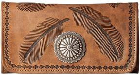 American West Sacred Bird Trifold Wallet Wallet Handbags