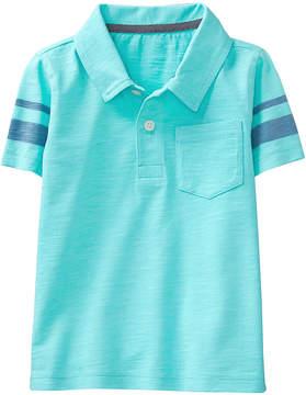 Gymboree Blue Tint Stripe-Detail Slub Polo - Infant, Toddler & Boys