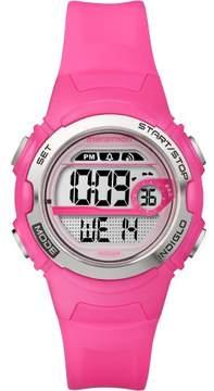 Timex Marathon by Women's Digital Mid-Size Watch, Bright Pink Resin Strap