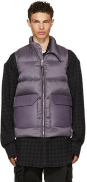 Rick Owens Purple Down Mollino Vest