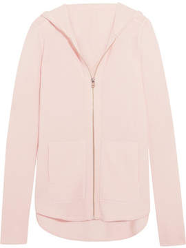 ATM Anthony Thomas Melillo Luxe Essentials Brushed-cashmere Hooded Top - Blush