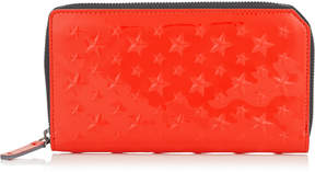 Jimmy Choo CARNABY Flame Patent Leather Travel Wallet with Embossed Stars