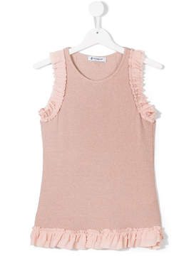 Dondup Kids glittery ruffled blouse