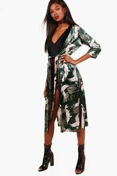 boohoo Velvet Oriental Kimono