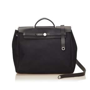 Hermes Herbag cloth handbag - BLACK - STYLE