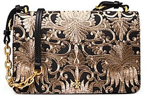 Tory Burch Sadie Brocade Shoulder Bag - BLACK - STYLE