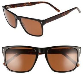 Ted Baker Men's 56Mm Polarized Rectangle Sunglasses - Grey/brown