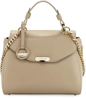 Versace Saffiano Leather Satchel Bag, Beige