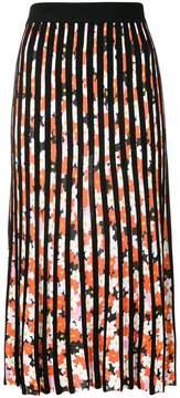 Kenzo floral striped midi skirt