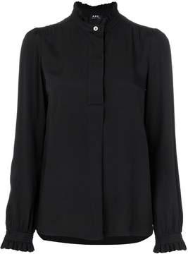 A.P.C. frill trim blouse