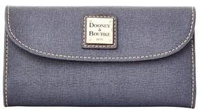 Dooney & Bourke Saffiano Continental Clutch Wallet - DARK GREY - STYLE