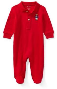 Polo Ralph Lauren Bear Cotton Coverall Park Ave Red 3M