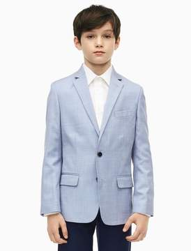 Calvin Klein boys sharkskin suit jacket