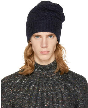 Stella McCartney Navy Knit Beanie