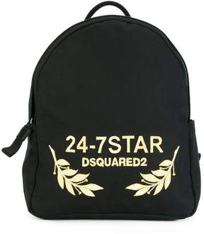 DSQUARED2 24-7 STAR logo backpack