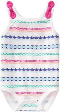 Gymboree White & Pink Stripe Bodysuit - Newborn & Infant