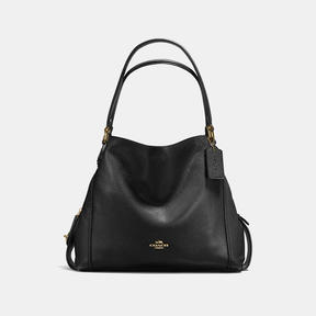 COACH Coach Edie Shoulder Bag 31 - LIGHT GOLD/BLACK - STYLE