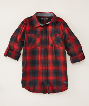 DKNY High Risk Red Network Long-Sleeve Button-Up - Boys
