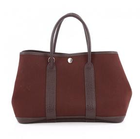 Hermes Brown Leather Handbag - BURGUNDY - STYLE