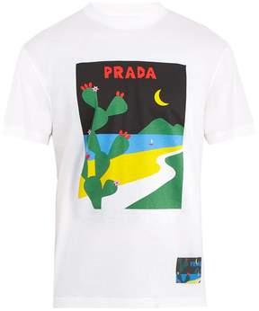 Prada Moon-print cotton T-shirt
