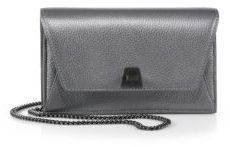 Akris Anouk Mini Metallic Leather Envelope Clutch
