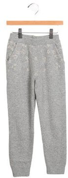 Chloé Girls' Knit Metallic-Accented Pants