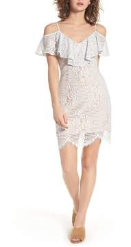 WAYF Cold Shoulder Lace Dress
