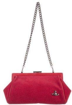 Vivienne Westwood Leather-Trimmed Woven Bag